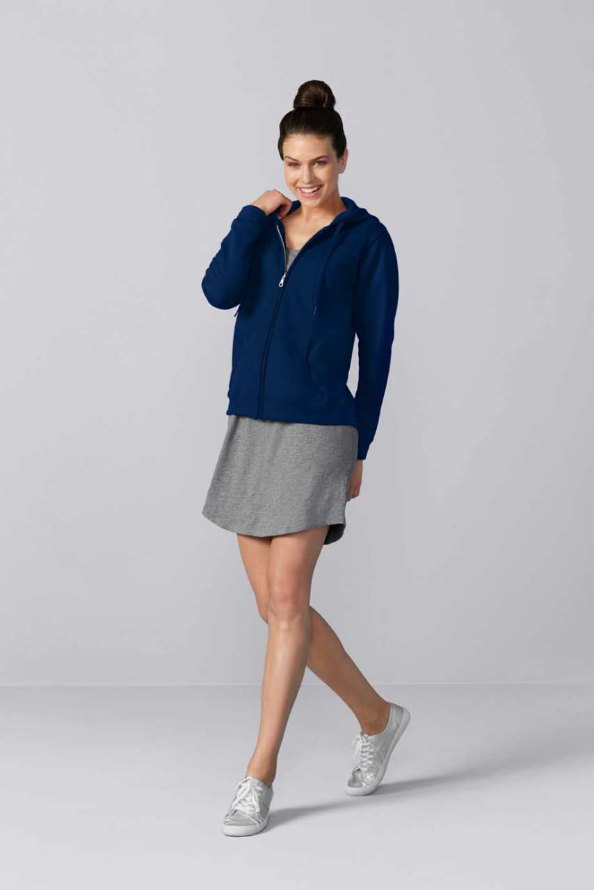 GILDAN® Heavy Blend™ Ladies' Full Zip Hooded Sweatshirt (GIL18600)