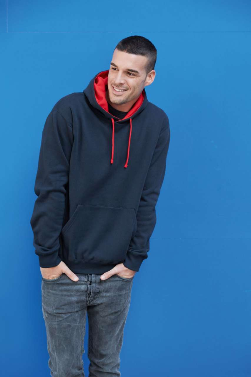 KARIBAN® Contrast Hooded Sweatshirt (KA446)