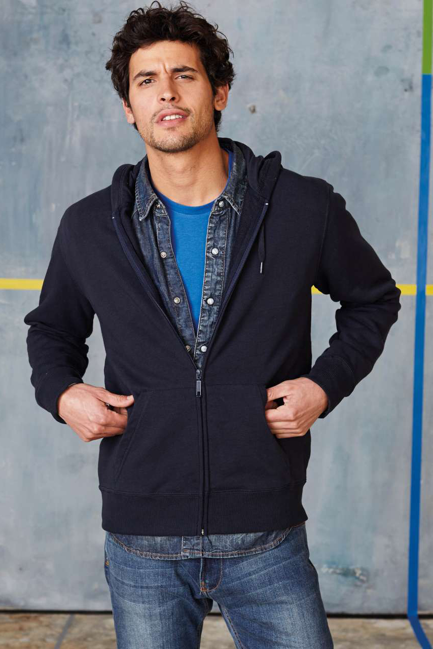 KARIBAN®  Full zip Hooded French Terry Sweatshirt (KA449)